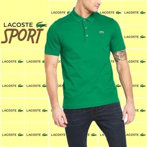 Lacoste Sport Men's Green Polo Shirt Size 7 XXL
